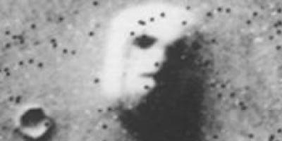 Is the Sumerian god Enki buried on the face on Mars?